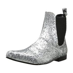 Funtasma Silver Sparkle Mens Ankle Boots size S
